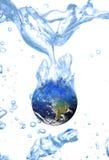 Riscaldamento globale di concetto dell'acqua della terra Fotografia Stock Libera da Diritti
