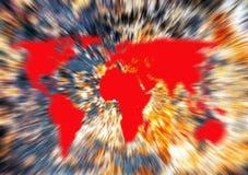 Riscaldamento globale, mondo su fuoco Fotografia Stock Libera da Diritti