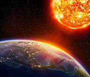 Riscaldamento globale negli S.U.A. Fotografie Stock Libere da Diritti
