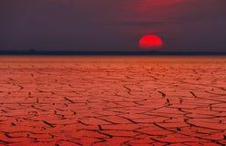 Riscaldamento globale o calore rosso immagine stock