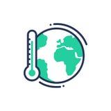 Riscaldamento globale - singola linea icona di vettore moderno illustrazione di stock