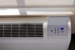 Riscaldamento - termostato del condizionamento d'aria Fotografia Stock Libera da Diritti