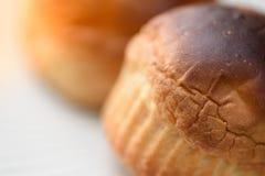 Riscaldi il pane servito per la prima colazione Fotografia Stock Libera da Diritti