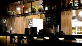 Riscaldi in ristorante a Murmanks Russia immagine stock libera da diritti