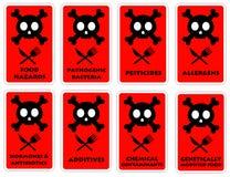 Rischi dell'alimento Fotografie Stock Libere da Diritti