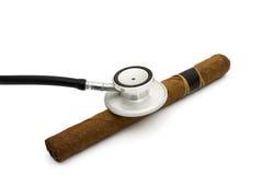 Rischi per la salute di fumo Immagini Stock