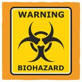 Rischio biologico d'avvertimento, progettazione del manifesto illustrazione vettoriale