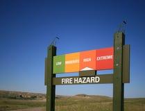 rischio d'incendio alto Fotografia Stock Libera da Diritti