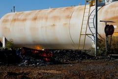 Rischio d'incendio industriale fotografia stock libera da diritti