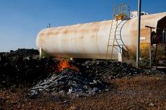 Rischio d'incendio industriale fotografia stock