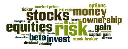 Rischio degli stock di azioni ordinarie Fotografie Stock Libere da Diritti