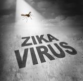 Rischio del virus di Zika illustrazione di stock
