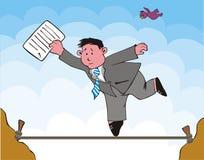 Rischio dell'uomo d'affari Immagini Stock