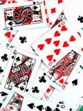 Rischio della mazza che gioca le schede del casinò di gioco Fotografia Stock