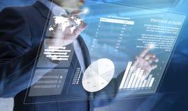 Rischio di investimento aziendale o analisi di ritorno su investimento fotografia stock