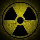 Rischio di radiazione ionizzante. illustrazione di stock