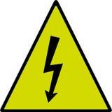 Rischio di scossa elettrica Fotografie Stock