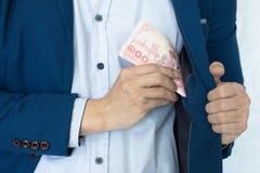 Rischio ed investimento dei soldi di affari Fotografia Stock
