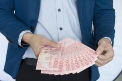 Rischio ed investimento dei soldi di affari Fotografie Stock Libere da Diritti