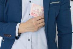 Rischio ed investimento dei soldi di affari Immagini Stock