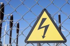 Rischio elettrico Fotografia Stock