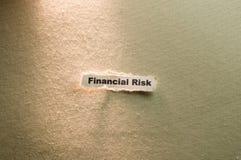 Rischio finanziario Fotografie Stock Libere da Diritti