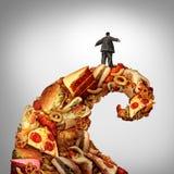 Rischio sanitario di obesità illustrazione di stock