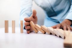 Risco comercial, estratégia e ideia de aplanamento do conceito Foto de Stock Royalty Free