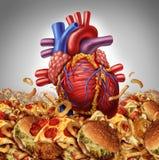 Risco da doença cardíaca Imagens de Stock