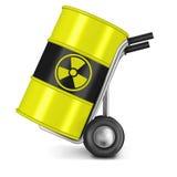 Risco da energia nuclear de desperdício radioativo ilustração do vetor
