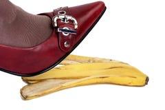 Risco de acidentes da pele de banana 3 Fotografia de Stock Royalty Free