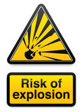 Risco de explosão ilustração stock