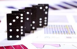 Risco do dominó Foto de Stock