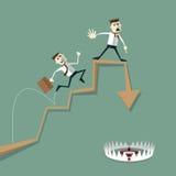 Risco do homem de negócios de erros do investimento Foto de Stock Royalty Free