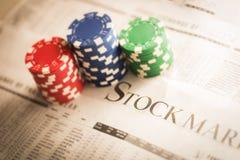 Risco do mercado de valores de ação imagem de stock royalty free