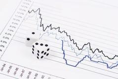 Risco do mercado de valores de acção Foto de Stock Royalty Free