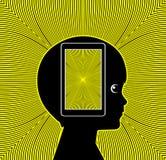 Risco para a saúde do telefone celular ilustração do vetor