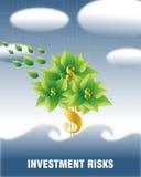 Riscos de investimento (dólar) Imagens de Stock Royalty Free