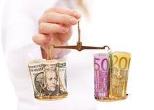 Riscos de taxa de avaliação da moeda imagens de stock