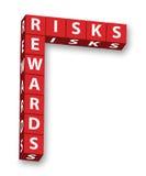 Riscos e recompensas ilustração do vetor