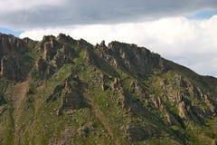 Riscos en Rocky Mountains Imágenes de archivo libres de regalías