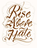 Rise Above Hate Stock Image