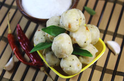 Rise balls with curry leaves Stock Photos