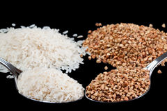 Rise and buckwheat Royalty Free Stock Photography