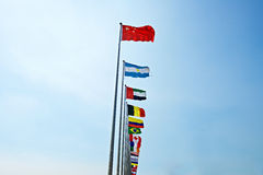 Rise of China flag as leader Stock Photography