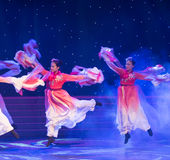 rise and dance in a happy mood-Chinese folk dance Royalty Free Stock Photos