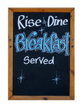 Rise and dine breakfast served Stock Image