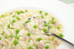 Rise E Bisi Risotto Soup Rice And Peas Italian Food Royalty Free Stock Images