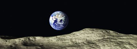 Rise of the Earth. Fantasy, illustration 3D Royalty Free Stock Images