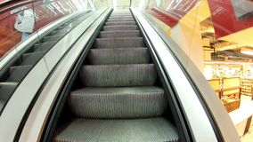 Rise on the escalator stock footage